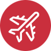 airplane icon image on Sologistx domestic freight company